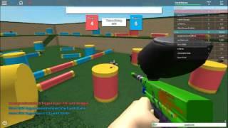 un altro gameplay folle di roblox paintball