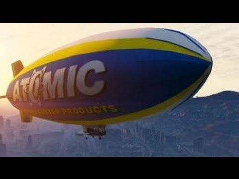 Grand Theft Auto V - Fly The ATOMIC BLIMP