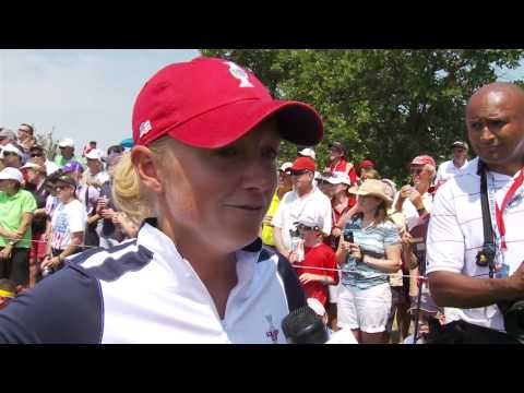 Stacy Lewis - Saturday Morning Post-Round interview at the 2013 Solheim Cup