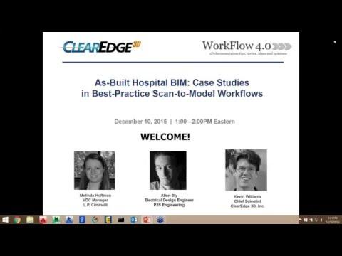 As-Built Hospital BIM--Case Studies in Best Practice Scan to Model Workflows