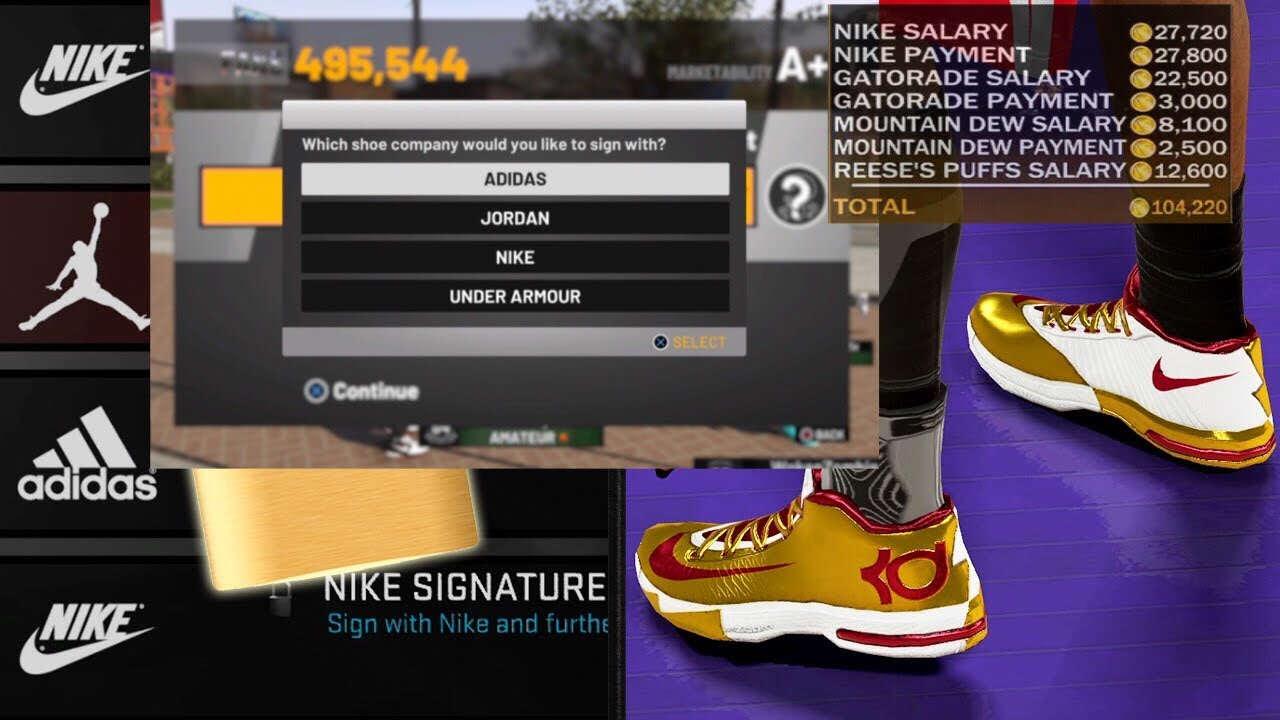 6105a6a8d62842 NBA 2K19 Signing  100Million Shoe Deal!!!!!!!!!! - YouTube