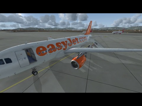 A319 EASYJET Flight from London Luton - Palma De Mallorca - FSX - Live Traffic