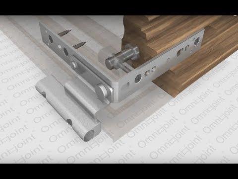 Omni-Joint: cross dowel for doors and windows