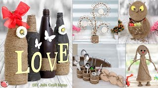 DIY Jute Room Decor Craft Ideas !!! Easy Home Useful