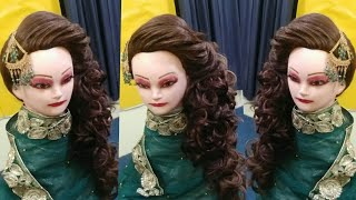 Trending bridal hairstyle pakistani,bridal hairstyle 2020,step by step layered puff hairstyle