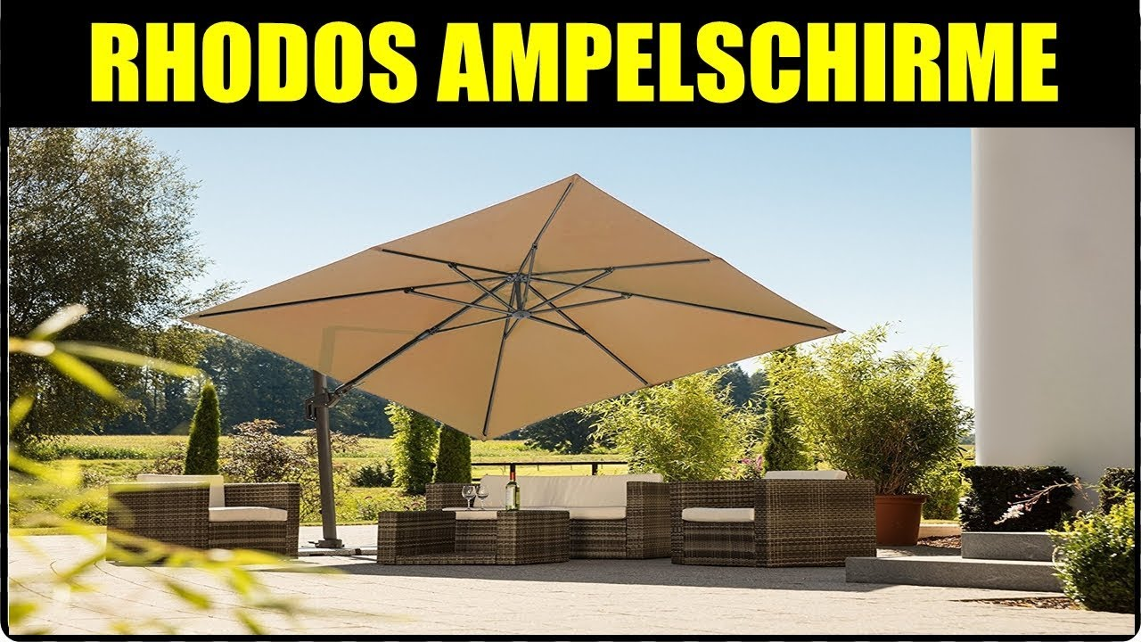 Ampelschirm Test Ampelschirm Schneider Rhodos Schneider