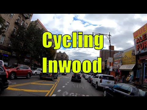 ⁴ᴷ⁶⁰ Cycling Tour of Inwood, Manhattan, NYC (Northernmost Neighborhood of Manhattan Island)