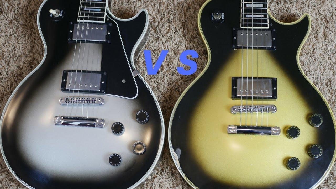 Modern Vs  Vintage Silverburst Gibson Les Paul Customs