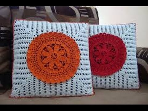 CROCHET CUSHION COVER PATTERN YouTube Classy How To Crochet A Pillow Cover