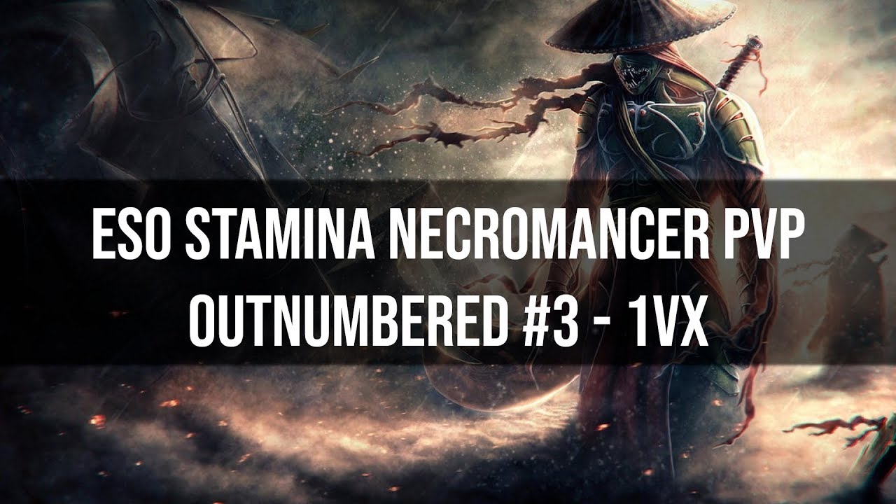 Stamina Necromancer 1vX | Outnumbered PvP #3 | ESO Elsweyr