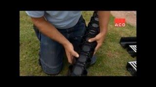 видео Лотки (желоба) для отвода ливневой канализации и стоков