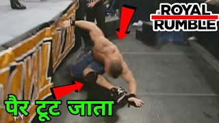 5 WWE Wrestlers Shockingly INJURED During Royal Rumble Match ! WWE Royal Rumble Highlights Today