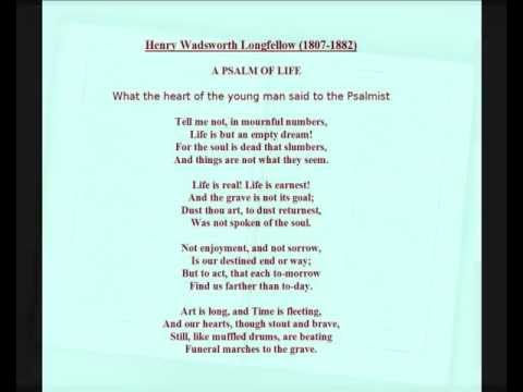 Henry Wadsworth Longfellow -- Poem: 'A Psalm of Life' read by Jasper Britton.