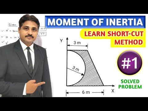 MOMENT OF INERTIA SOLVED PROBLEM 1 IN ENGINEERING MECHANICS ( LECTURE 2 )