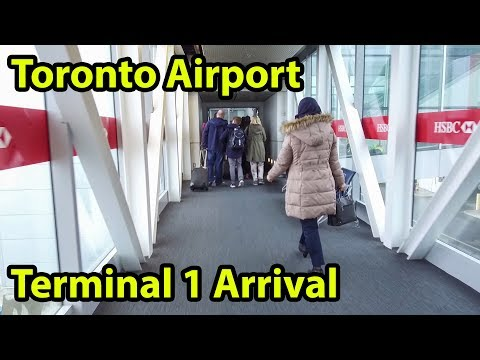 Toronto Airport Terminal 1 Arrival Tour 2018 YYZ - HD - DJI Osmo+