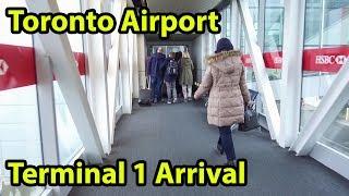 Toronto Airport Terminal 1 Arrival Tour YYZ - HD -