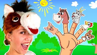 Animals Finger Family Song | Nursery Rhyme by Be Be Kids