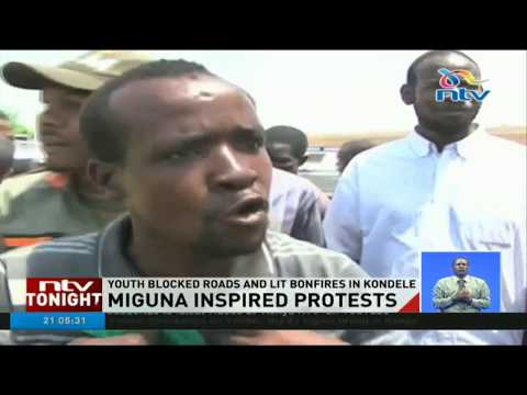 Youth in Kisumu demand release of Miguna Miguna