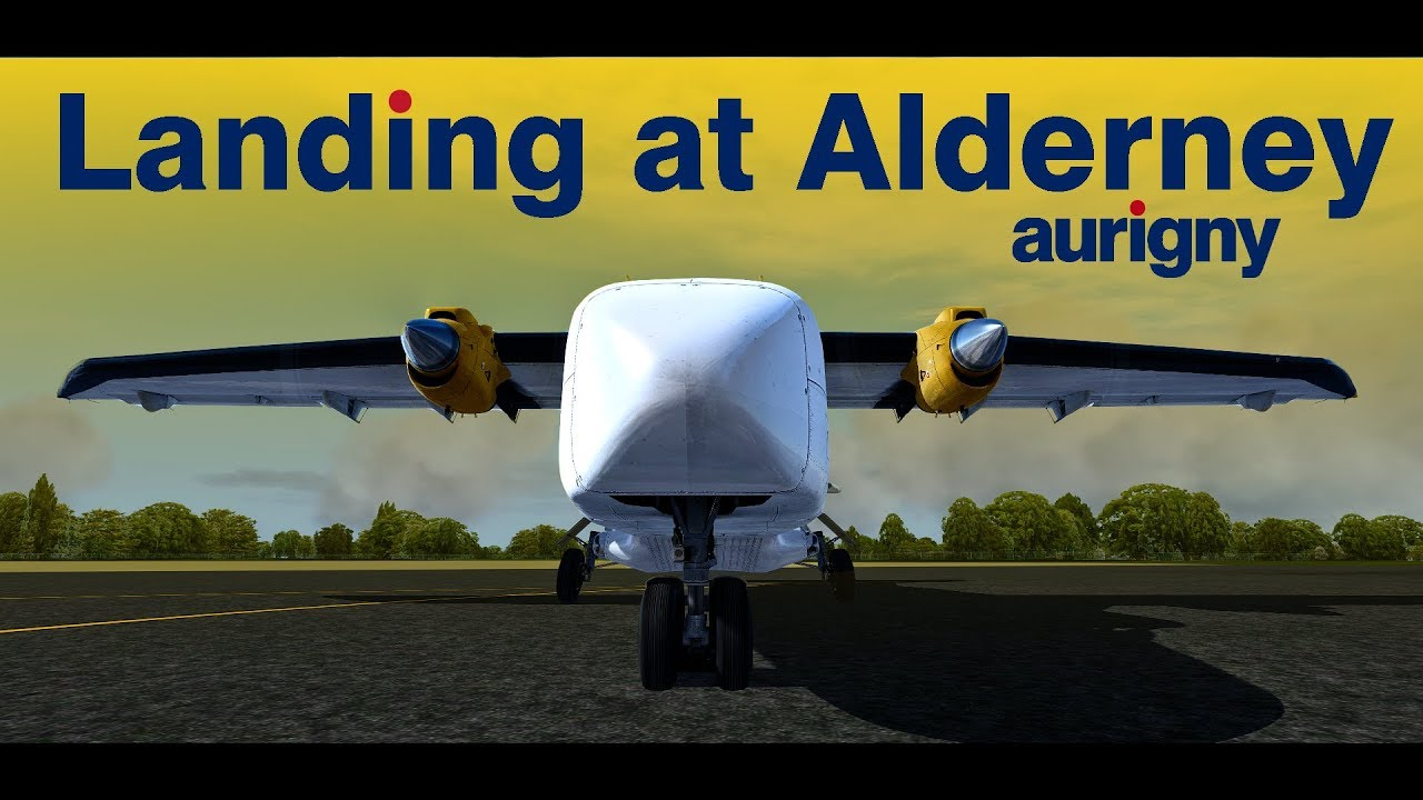 P3dv4 1 Aurigny Do228 Visual Landing At Alderney Airport Youtube