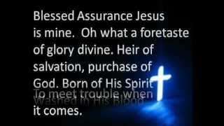 Blessed Assurance - Tennessee Ernie Ford, with lyrics.wmv