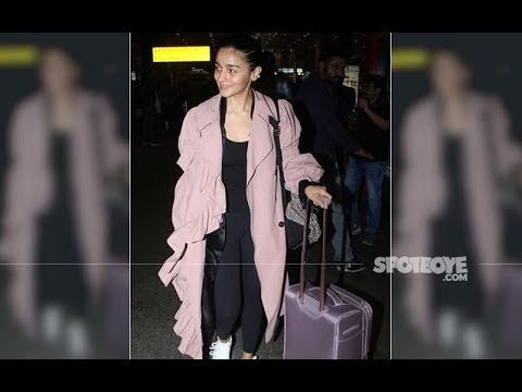 Alia Bhatt Makes A Fashion Statement In A Pink Overcoat As She Returns From Her Los Angeles Vacation Mp3