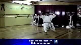 Kata Yitte y su Bunkai por el Sensei Hugo Baruch y Rubén Moreno Shito Kai Zacatecas