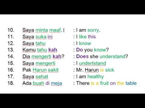 Learn Indonesian Language  :  128 Most  Common Indonesian Phrases
