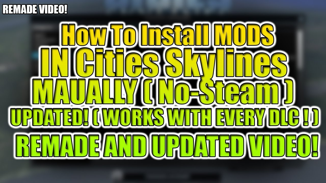 Cities skilines put mods manually