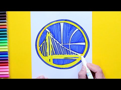 how-to-draw-the-golden-state-warriors-logo---nba-team-series