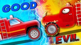Good Vs Evil | Car Cartoon Videos For Toddlers by Kids Channel