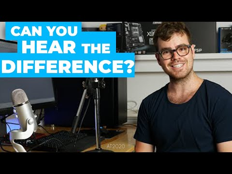 Blue Yeti vs the Audio Technica At2020 & Scarlett 2i2 - Sound Comparison