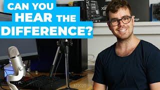 Blue Yeti vs the Audio Technica At2020 & Scarlett 2i2 - Sound Comparison
