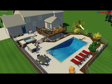 Sussex, WI Pool Concept Video with Hot Tub and Firepit