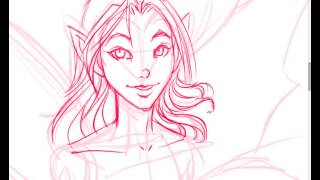 How To Draw A Fairy w/ Free Line Art For You To Color