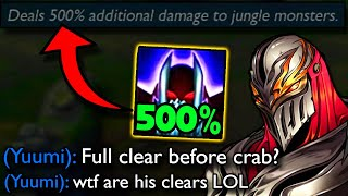 500% MORE DAMAGE TO JUNGLE CAMPS?? Riot may have OVERBUFFED Zed in the Jungle..