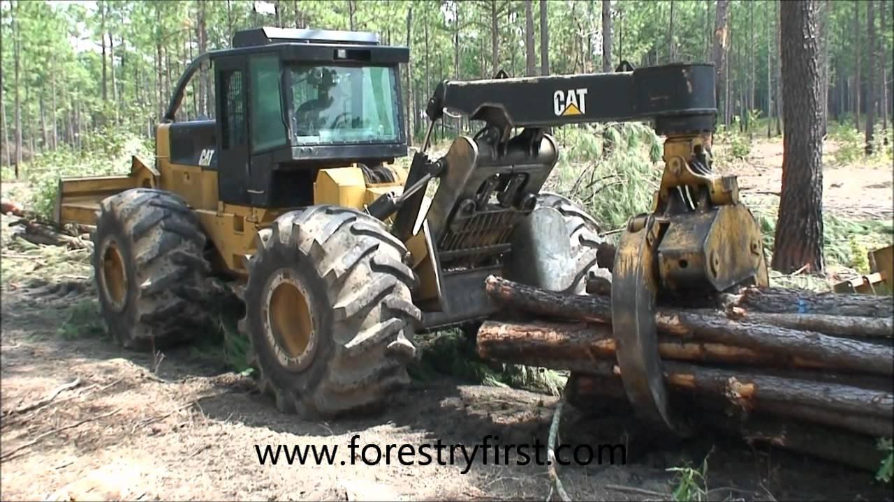 2009 CAT 525C Skidder w3600 hrs for sale at www forestryfirst com wmv