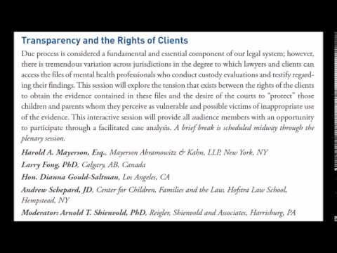AAML AFCC Transparency and Litigant Rights Plenary (Demonstrative Exhibit)