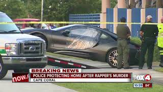 Police protecting home after rapper's murder