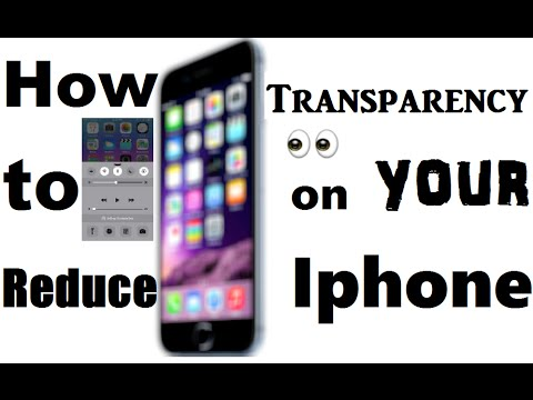 How to Reduce Transparency on your iPhone - iPhone Tips and Tricks