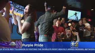 Wildcats Fans Elated After Northwestern's First NCAA Tournament Win