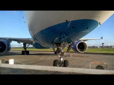 Push Back A330-323 of Air Caraïbes F-ORLY at Guadeloupe airport