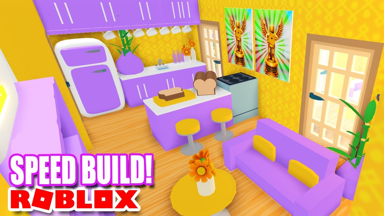 TINY *Purple & Orange* HOME 🧡💜  SPEED BUILD  ADOPT ME Roblox