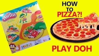 Play Doh How to Make a Pizza. Peppa Pig Pizza. Easy Playdough Recipe Video. DIY.