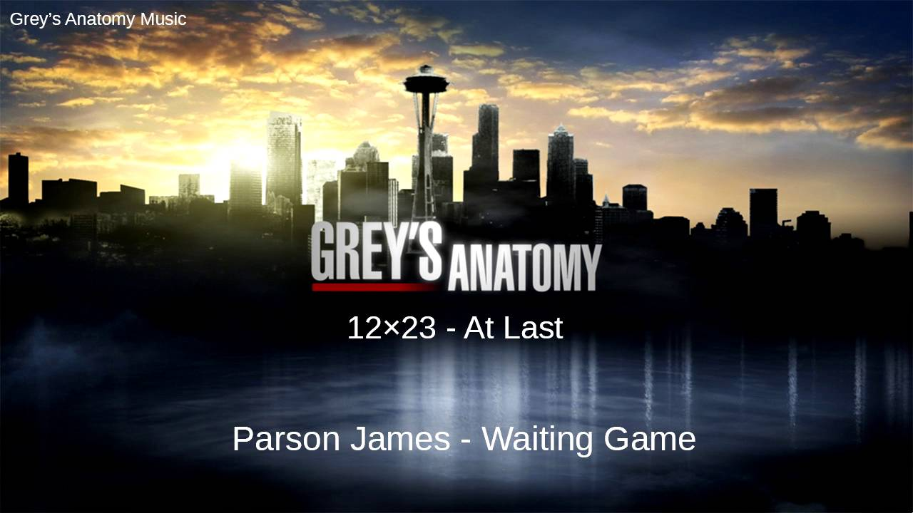 Greys Anatomy Season 12 Episode 23 Parson James Waiting Game