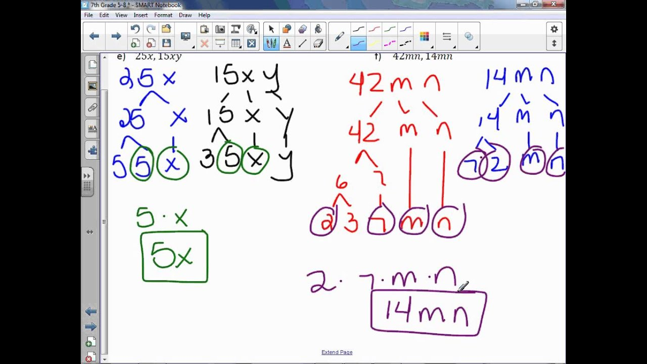 7th Grade 5-8: Factor Linear Expressions - YouTube