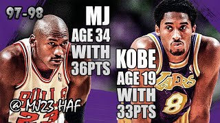 Kobe Byrant vs Michael Jordan Highlight (1997.12.17)-69pts All,How Quick Time Has PASSED! RIP Kobe