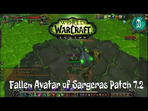 Fallen Avatar of Sargeras in The Tomb of Sargeras Raid LFR   WoW Legion Patch 7.2.5