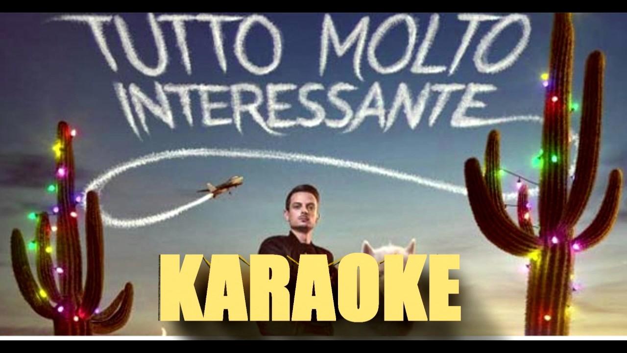 tutto molto interessante rovazzi karaoke con testo