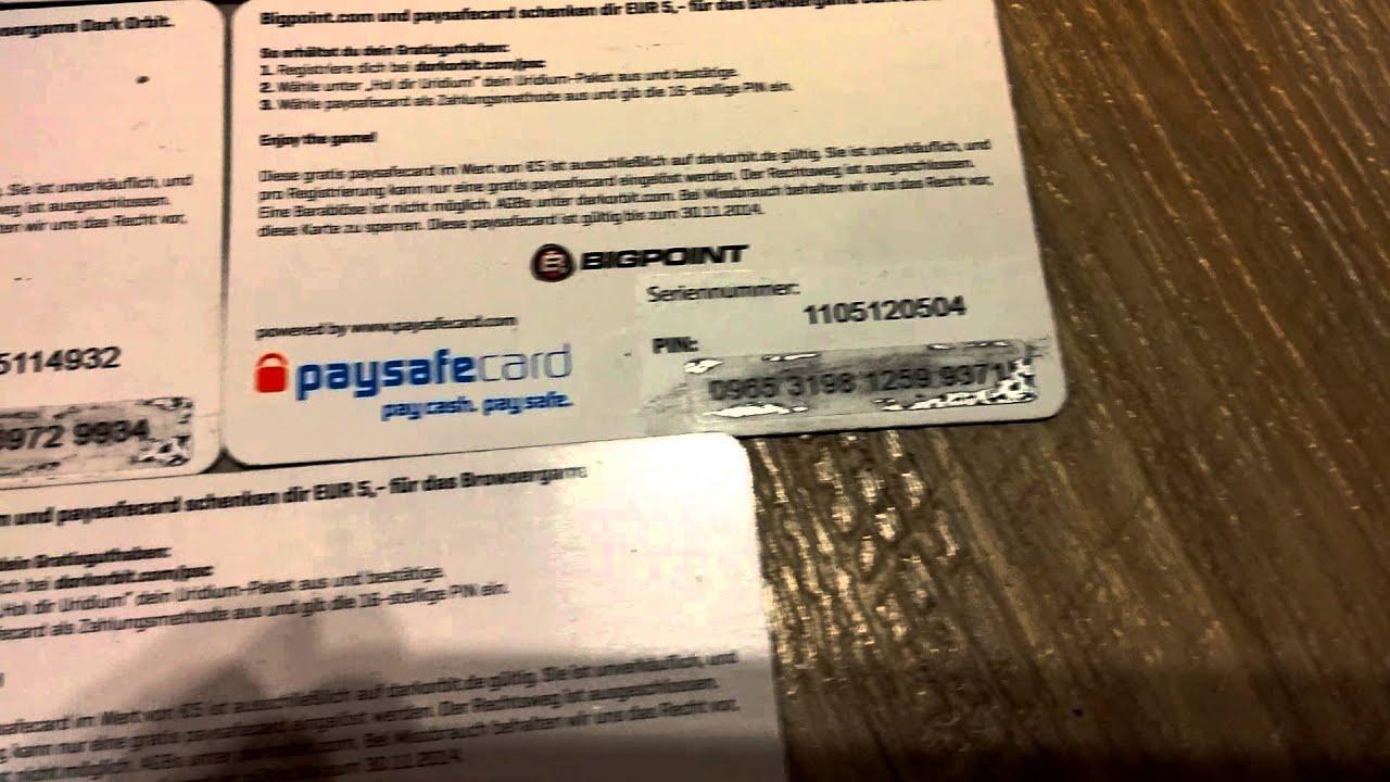 Kostenlose Paysafecard Codes