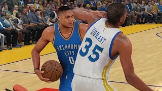 KEVIN DURANT FIGHTS RUSSELL WESTBROOK